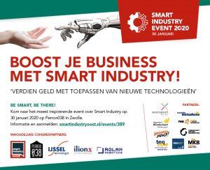 Aankondiging Smart Industry Event 2020 (tekstalternatief staat onder de afbeelding)