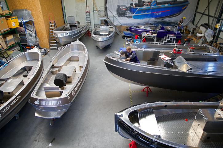 De werkplaats van Alumax Boats